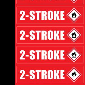 2 STROKE ID Sticker