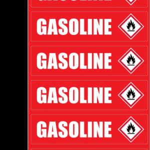GASOLINE ID Sticker
