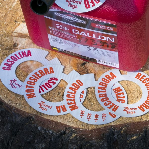 Assorted-SMALL-Gas-Can-ID-Tags-Spanish