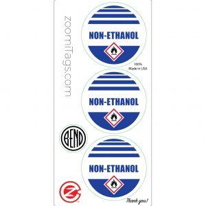 NON-ETHANOL ID Sticker RND